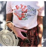 Doctor Fake T-shirt - Coral