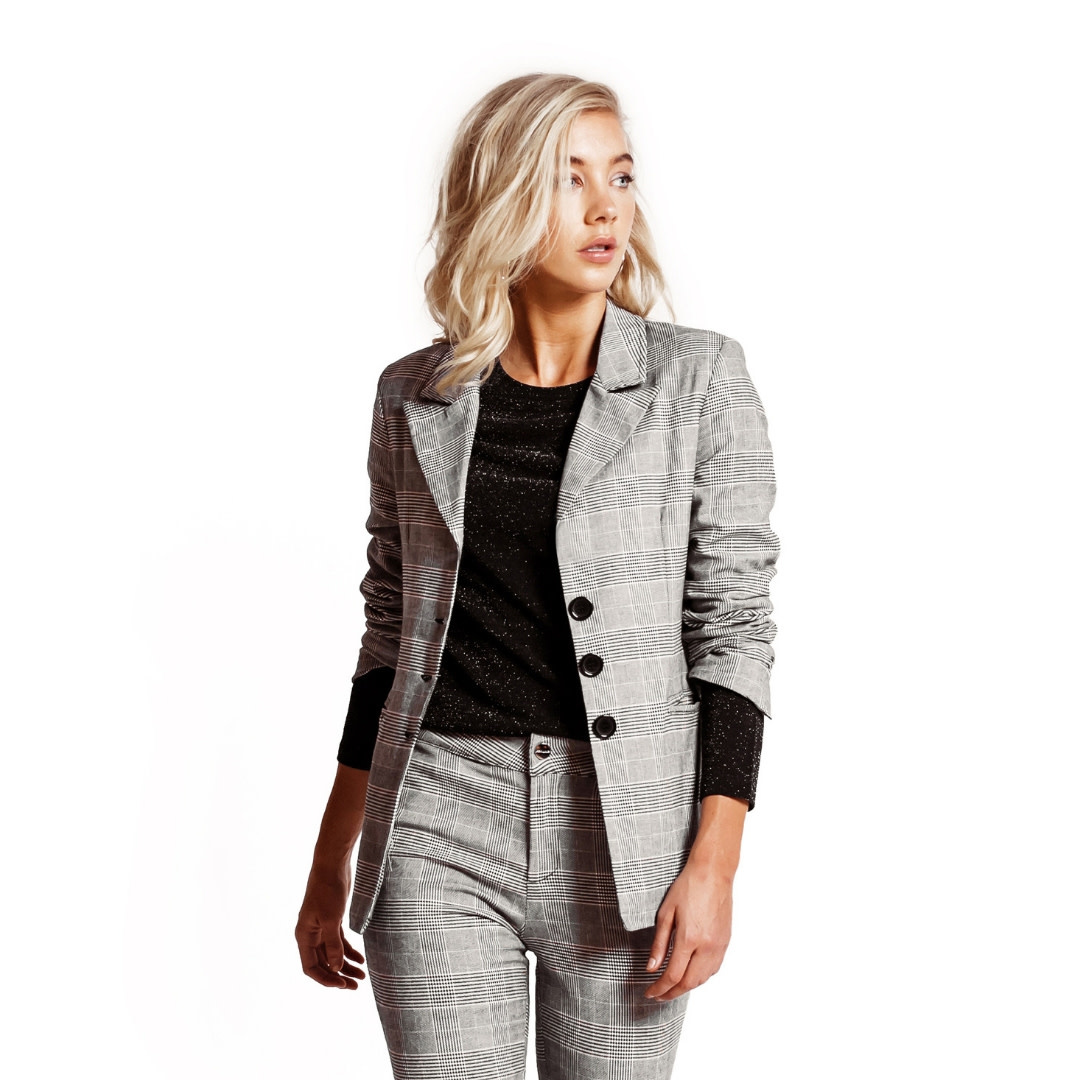 Jacky Luxury Blazer - Check