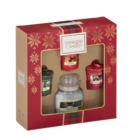 Yankee Candle Alpine Christmas - 1 Small Jar & 3 Votives