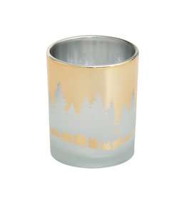 Yankee Candle Winterscape Gold Votive Holder