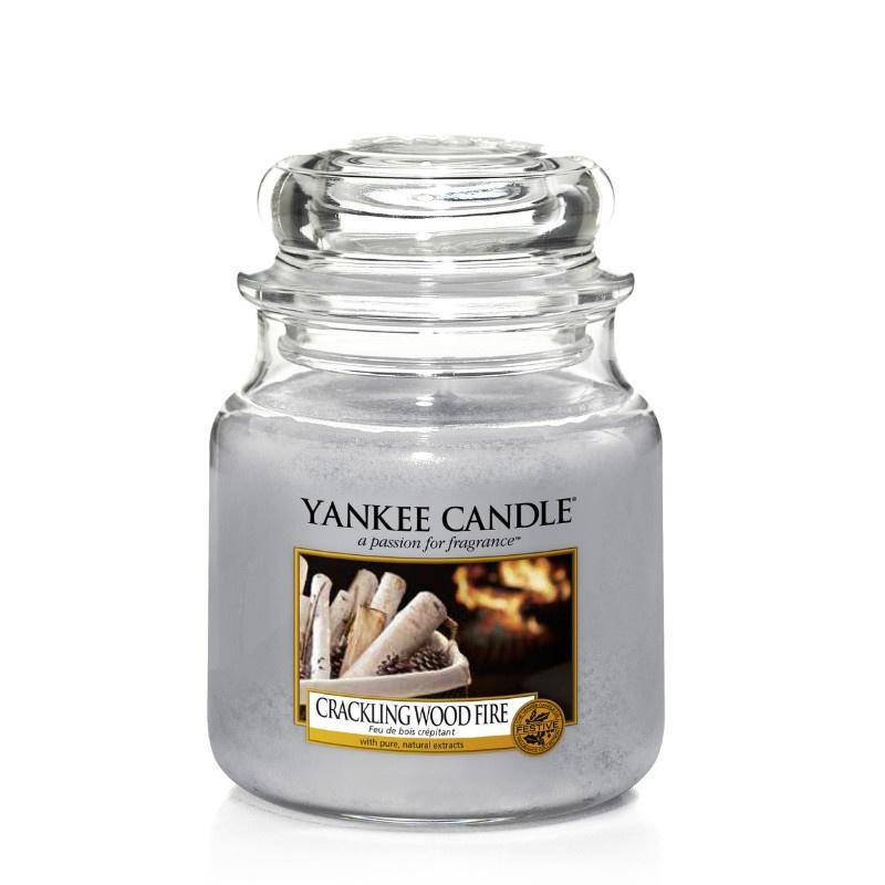 Yankee Candle Crackling Wood Fire Medium Jar