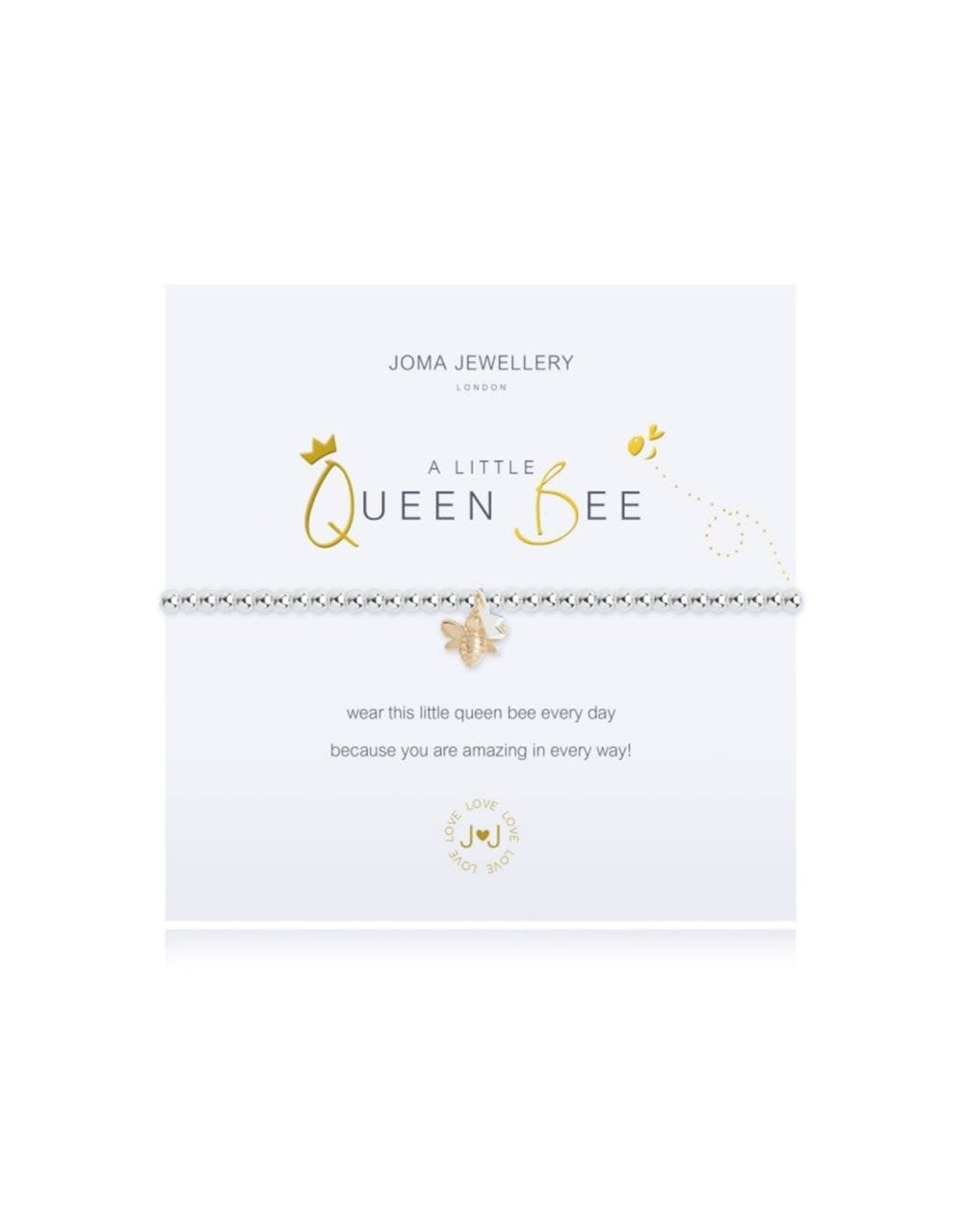 Joma Jewellery A Little - Queen Bee - Armband Zilver