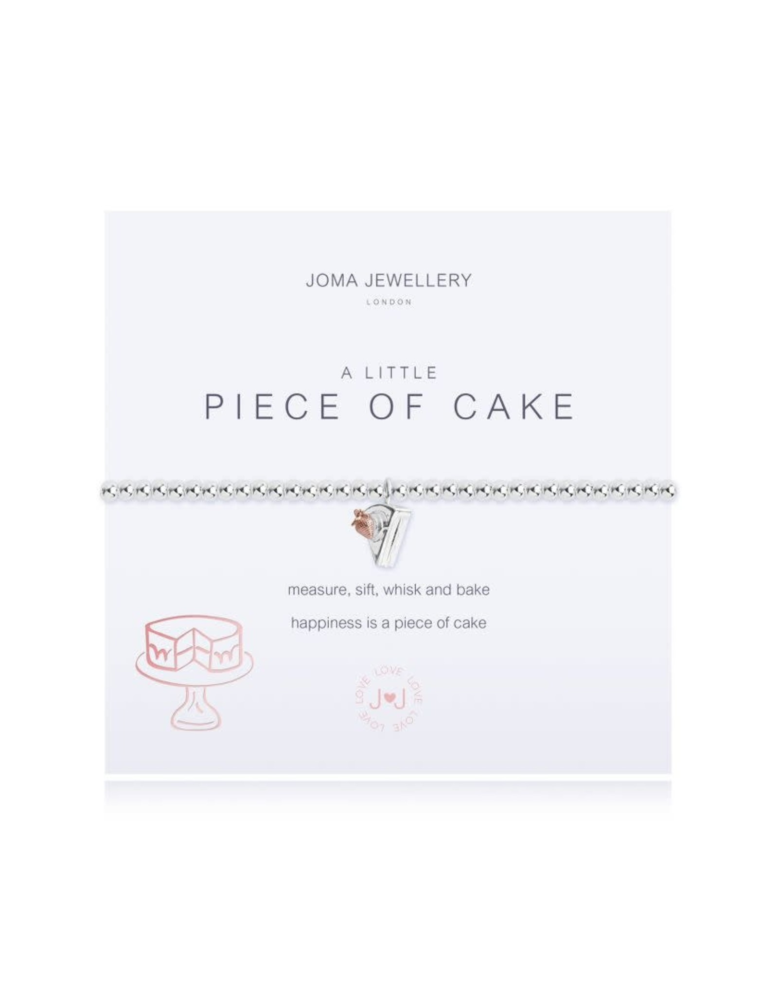 Joma Jewellery A Little - Piece of Cake - Armband Zilver