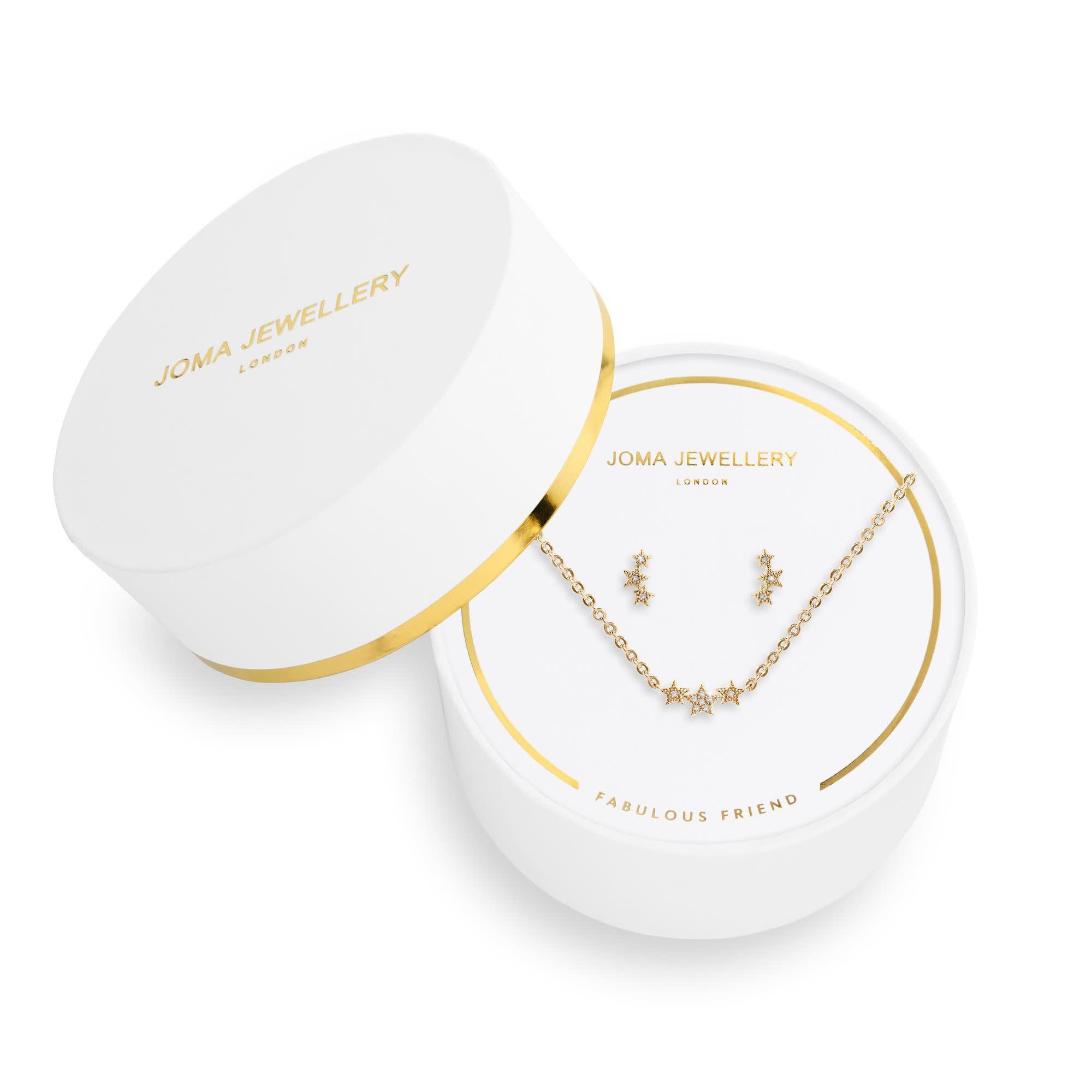 Joma Jewellery Juwelenset - Fabulous Friend - Ketting & Oorbellen Goud