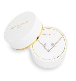 Joma Jewellery Juwelenset - Wonderful Mum - Ketting & Oorbellen Goud
