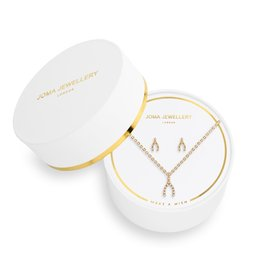 Joma Jewellery Juwelenset - Make a Wish - Ketting & Oorbellen Goud