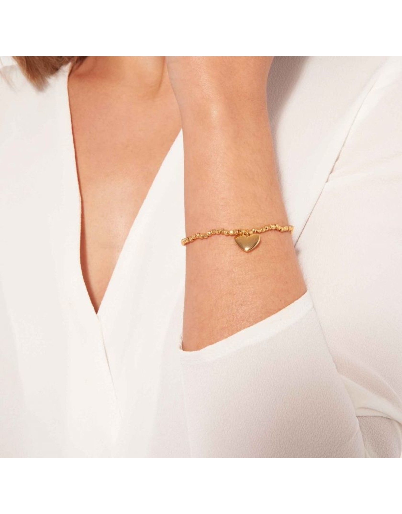 Joma Jewellery A Little Facetted - Heart of Gold - Armband Goud