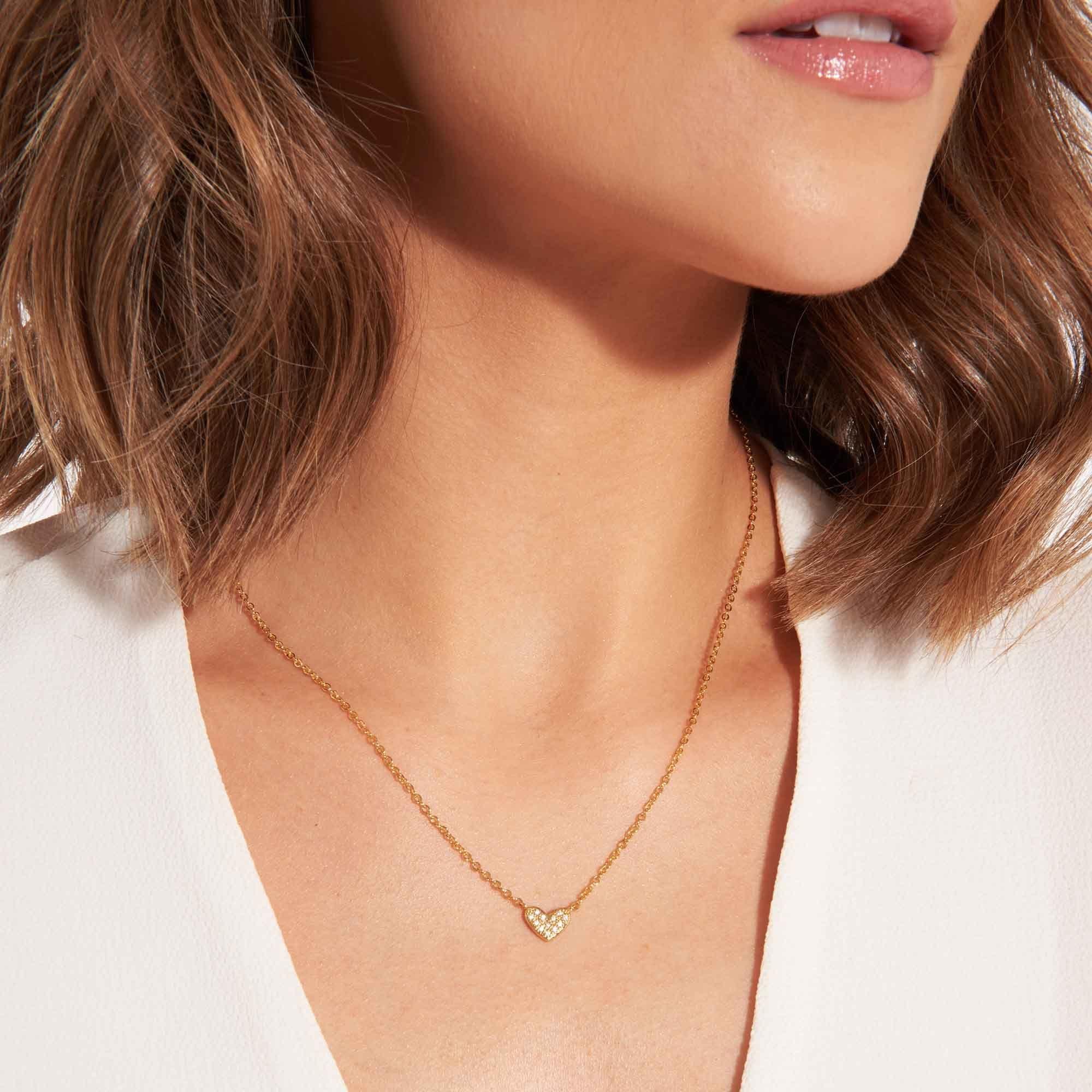 Joma Jewellery Juwelenset - Heart of Gold - Ketting & Oorbellen Goud