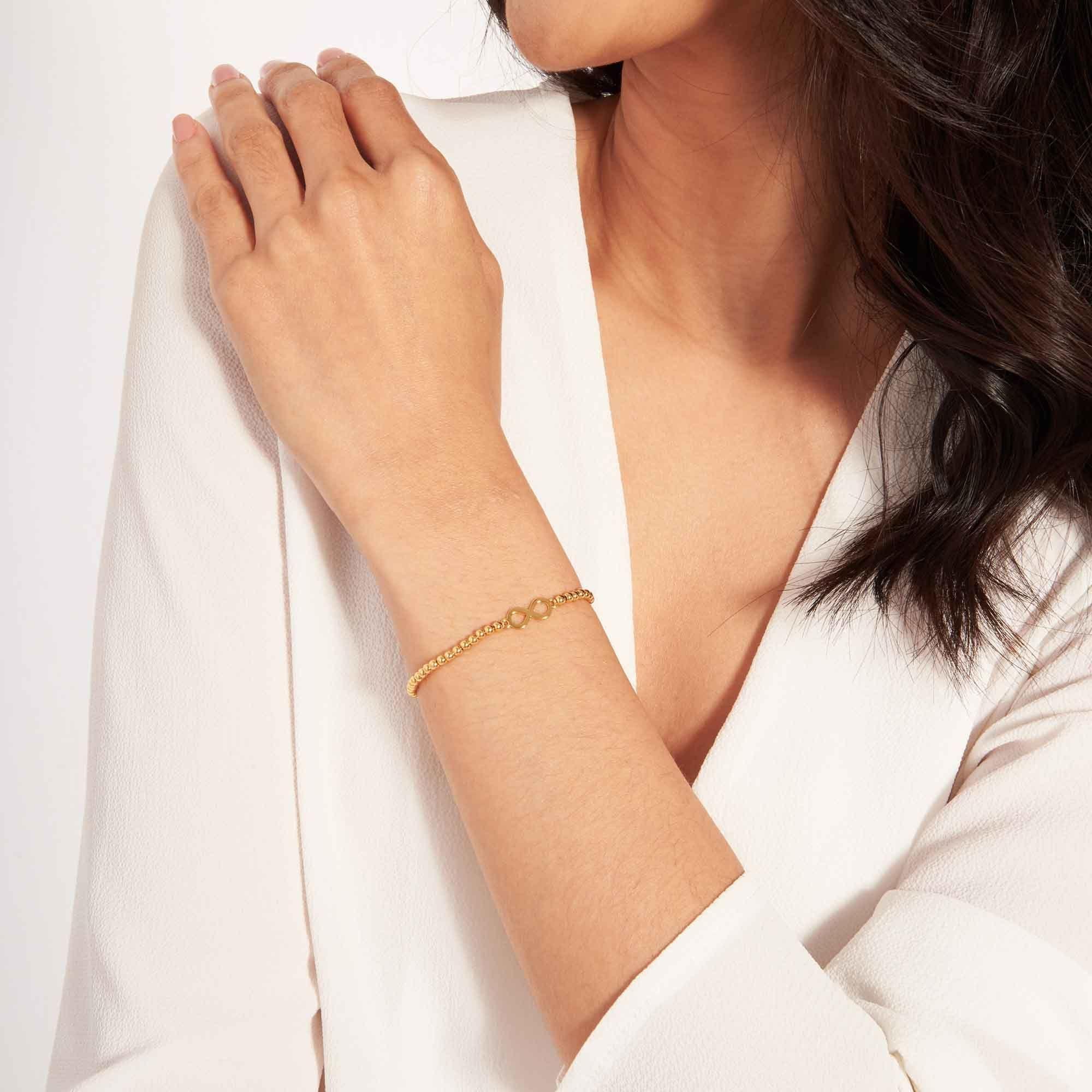 Joma Jewellery Christmas Cracker - Infinity - Armband Goud
