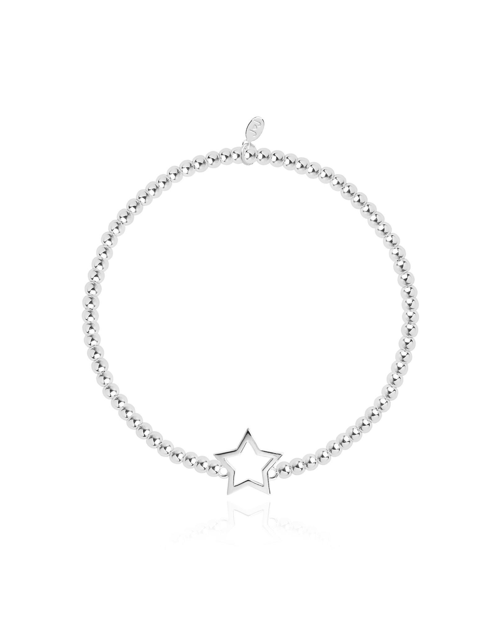 Joma Jewellery Christmas Cracker - Star - Armband Zilver