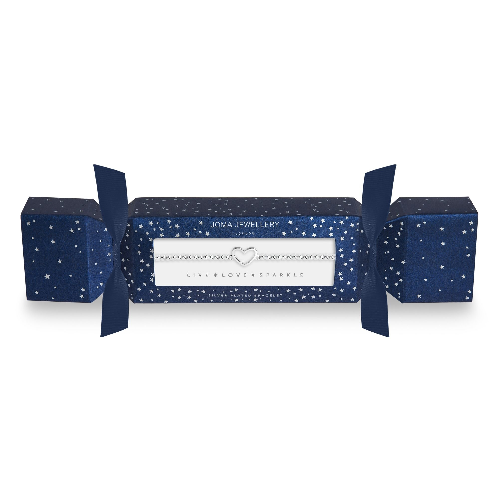 Joma Jewellery Christmas Cracker - Heart - Armband Zilver