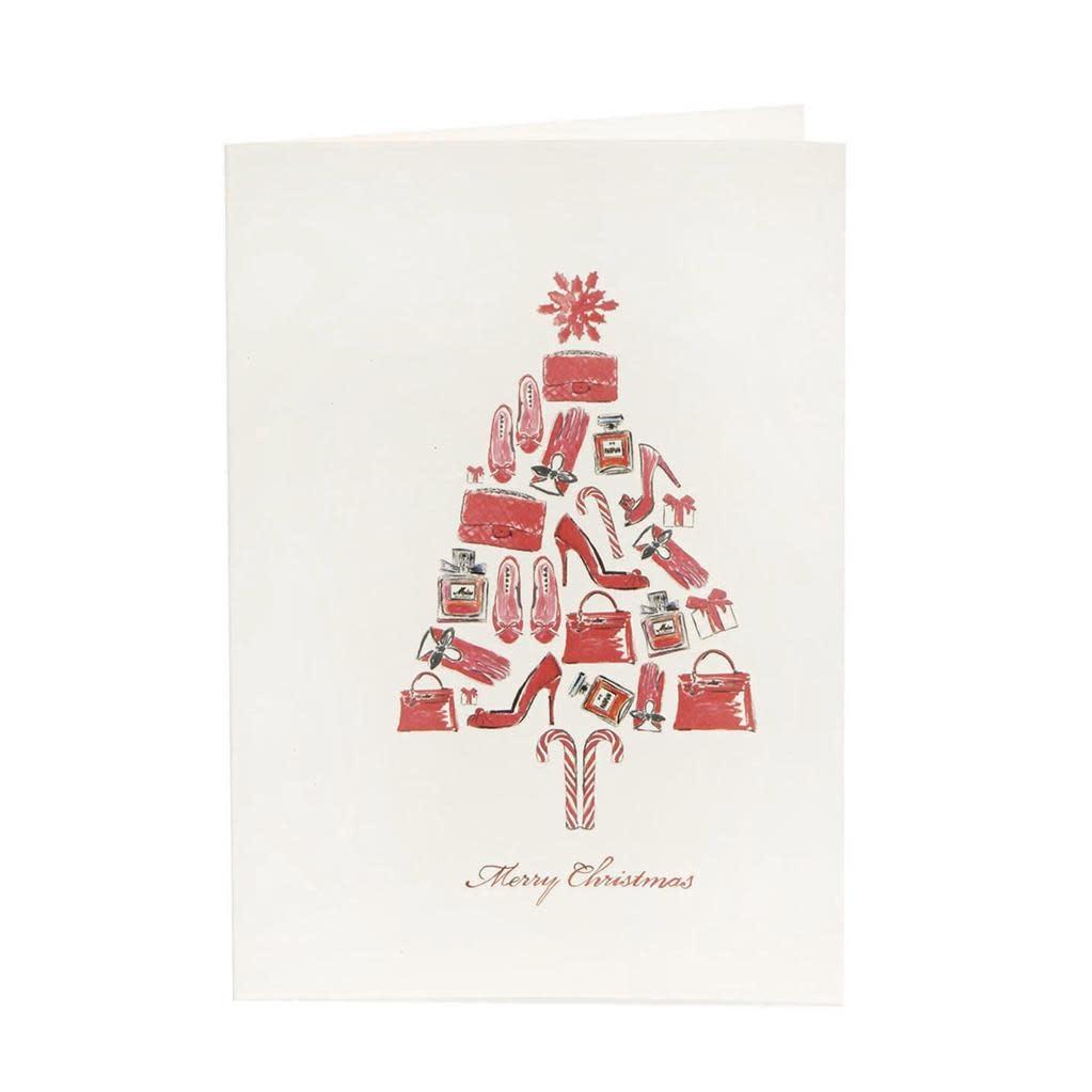 Goodwill Wenskaart - Red Christmas Tree