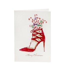 Goodwill Wenskaart - Red Santa Shoe