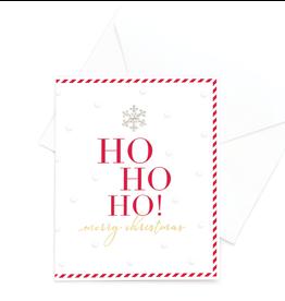 Hearts Design Ho Ho Ho Merry Christmas