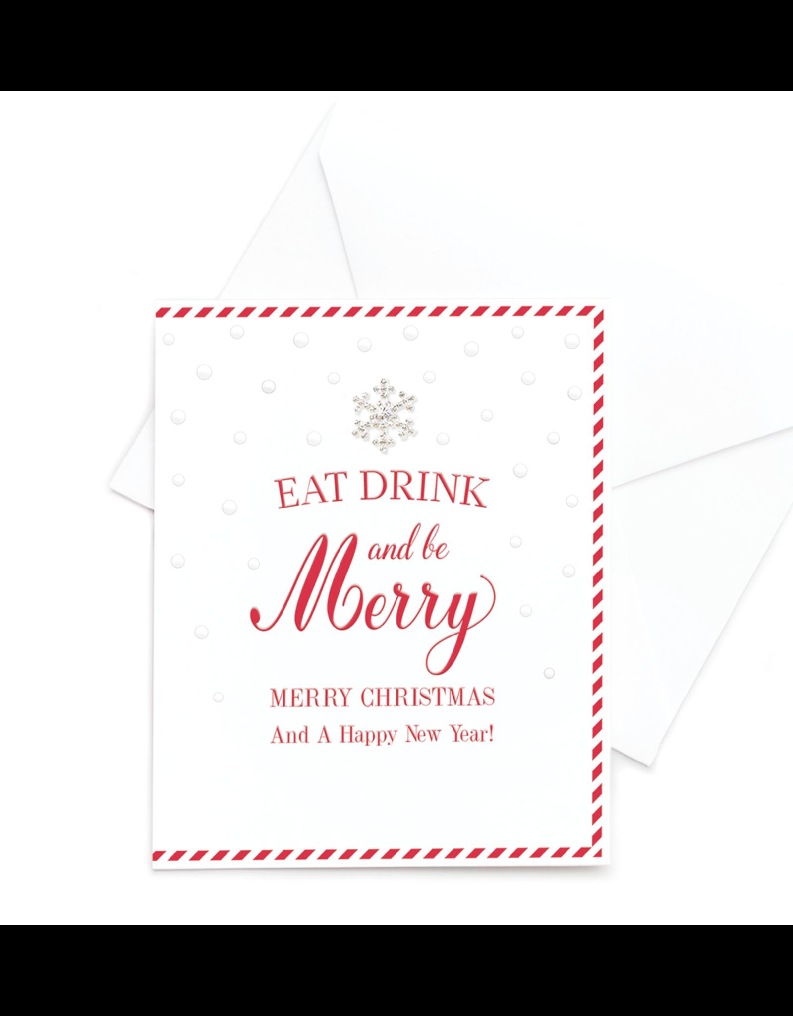 Hearts Design Wenskaart - Eat, Drink & be Merry