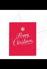 Hearts Design Wenskaart - Happy Christmas