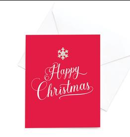 Hearts Design Happy Christmas
