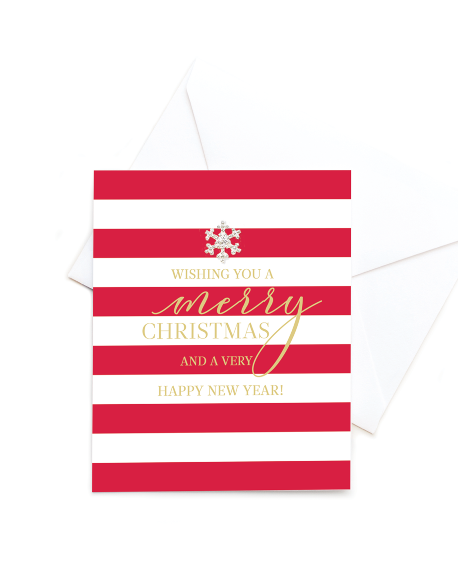 Hearts Design Wenskaart - Merry Christmas & Happy New Year