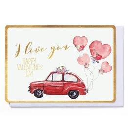 Enfant Terrible Wenskaart - I Love you / Happy Valentine's Day
