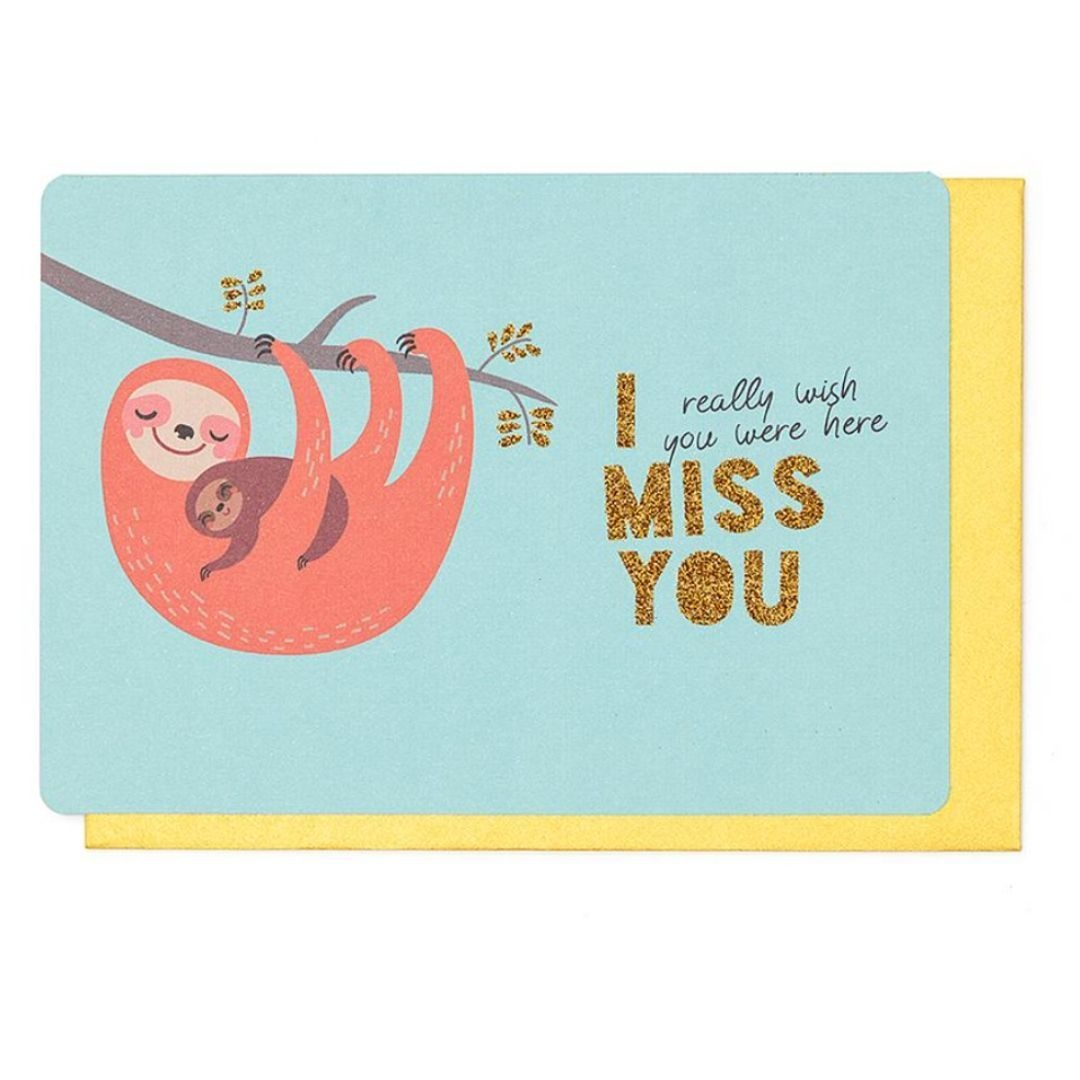 Enfant Terrible Wenskaart - I Miss You