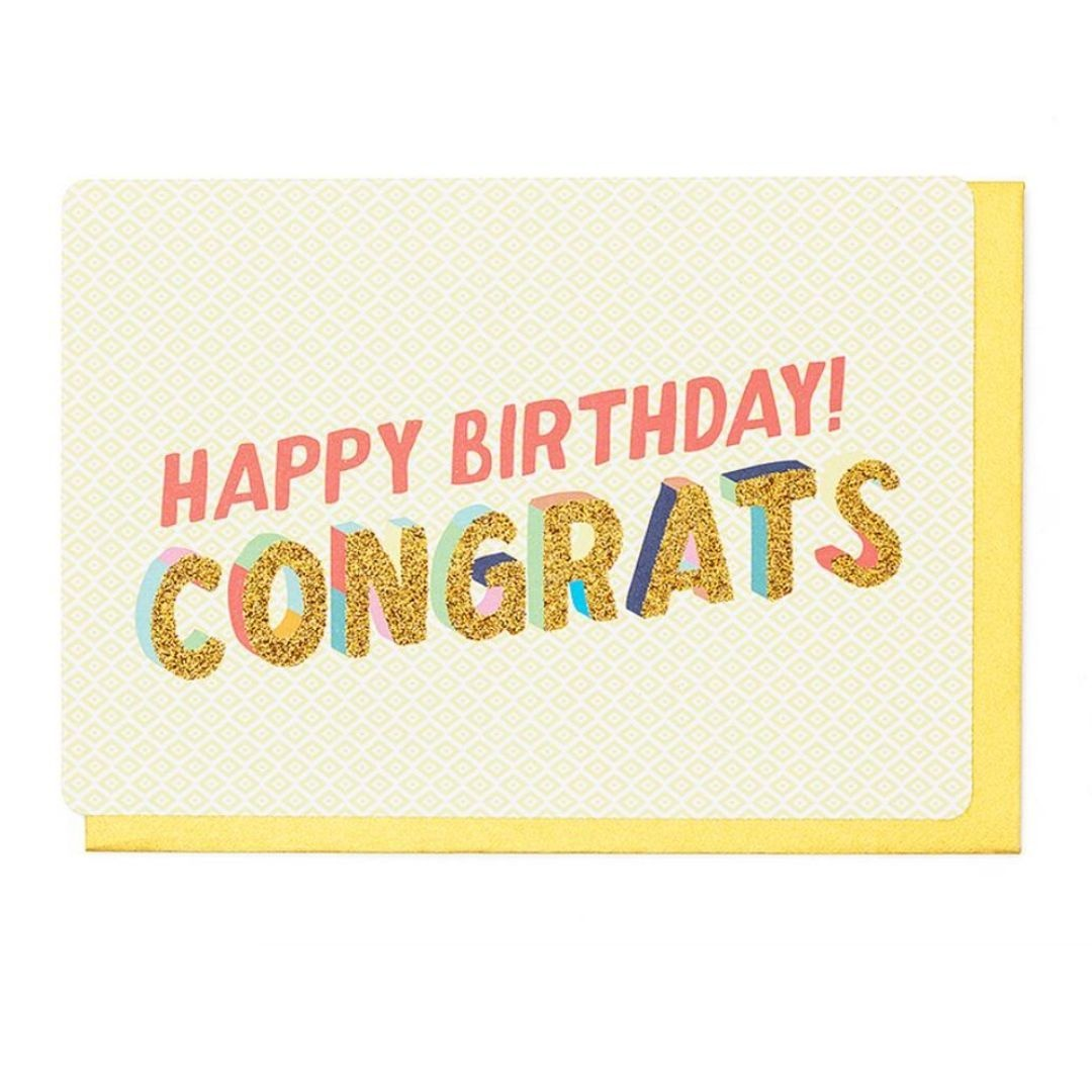 Enfant Terrible Wenskaart - Happy Birthday Congrats