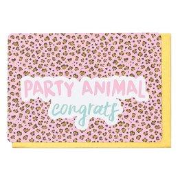Enfant Terrible Wenskaart - Party Animal Congrats