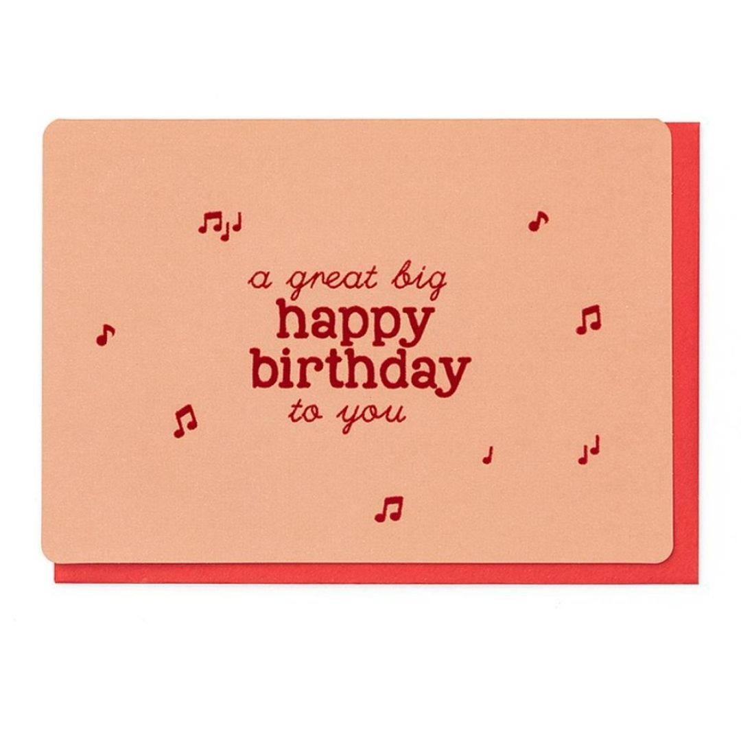 Enfant Terrible Wenskaart - A Great Big Happy Birthday