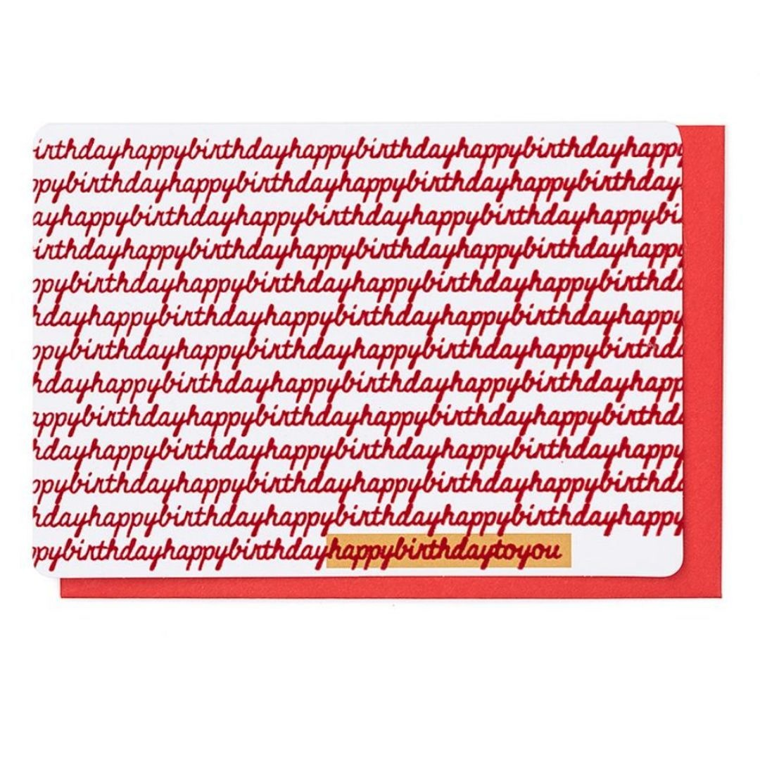 Enfant Terrible Wenskaart - Happy Birthday to You