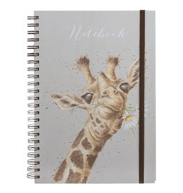 Wrendale Notitieboek - Giraffe Flowers A4