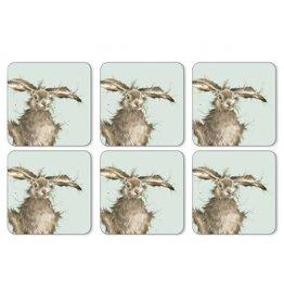 Wrendale Onderleggers set van 6 - Hare Brained
