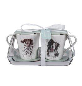 Wrendale Set Mokken & Tray - Dogs