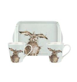 Wrendale Set Mokken & Tray - Hare Brained