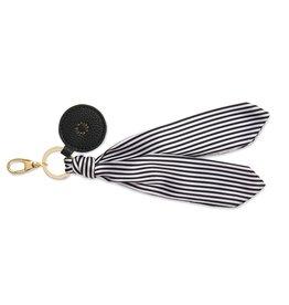 Katie Loxton Bag Charm - Scarf Black Stripe