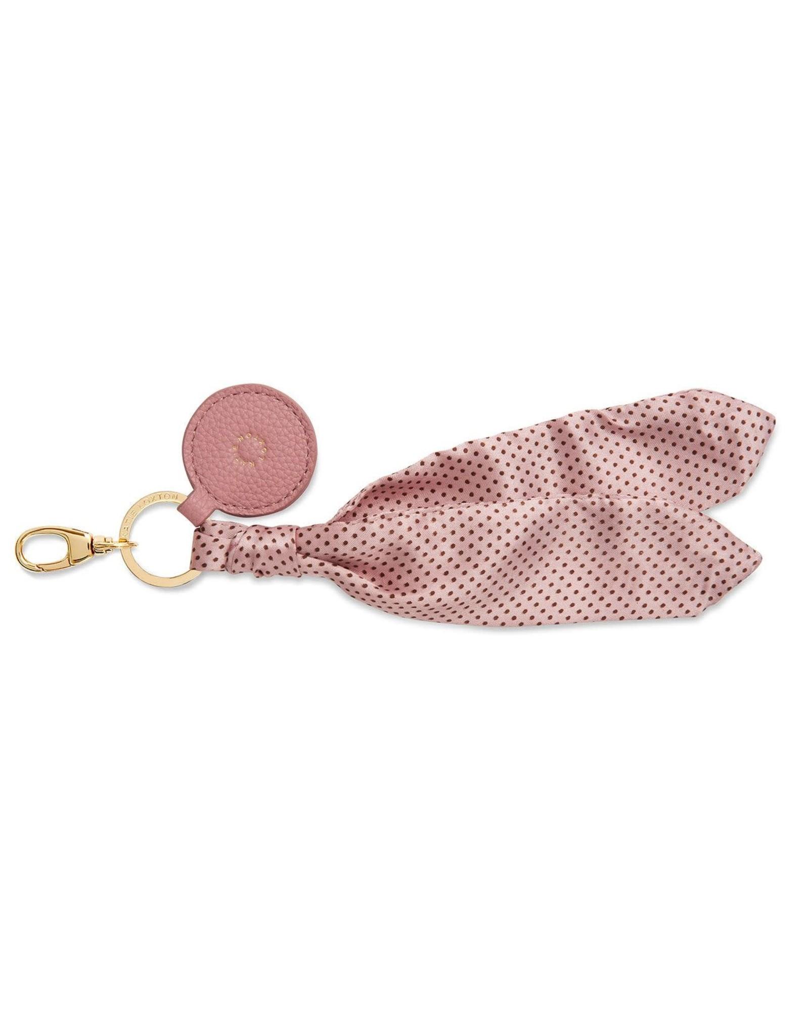 Katie Loxton Bag Charm - Scarf Pink Spot
