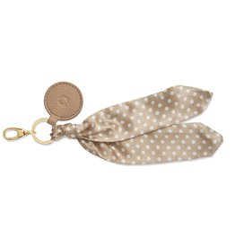 Katie Loxton Bag Charm - Scarf Taupe Spot