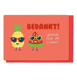 Enfant Terrible Wenskaart - Bedankt! Geniet van de Zomer!