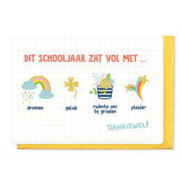 Enfant Terrible Wenskaart - Dit Schooljaar zat vol met...