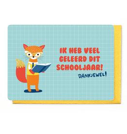 Enfant Terrible Wenskaart - Ik heb veel Geleerd dit Schooljaar - Dankjewel!