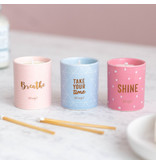 Mr Wonderful Geurkaars Set - Breathe, take your time and Shine!