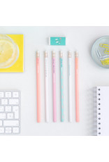Mr Wonderful Set of 6 Pencils with Never-ending Batteries