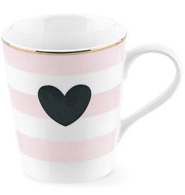 Miss Etoile CM104 - Tas - Stripe Black Heart