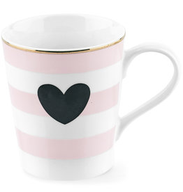 Miss Etoile Tas - Stripe Black Heart