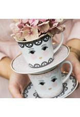 Miss Etoile Set 4 Koffietassen - Eyes Open Lace