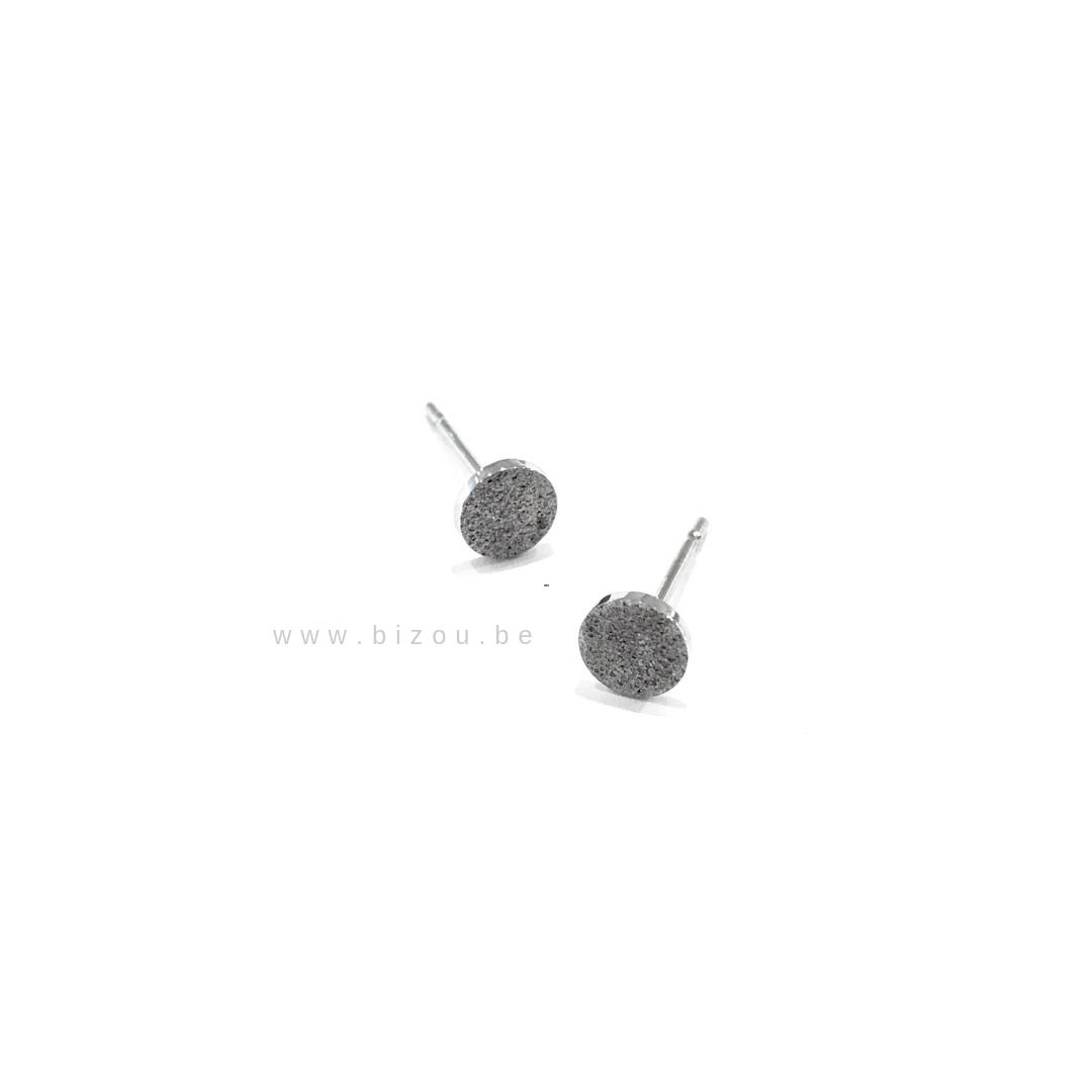 Go Dutch Label Oorbellen - Cirkel Zilver
