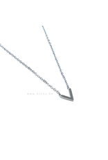 Go Dutch Label Ketting - V Zilver