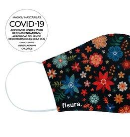Fisura Mondmasker - Embroided Flowers
