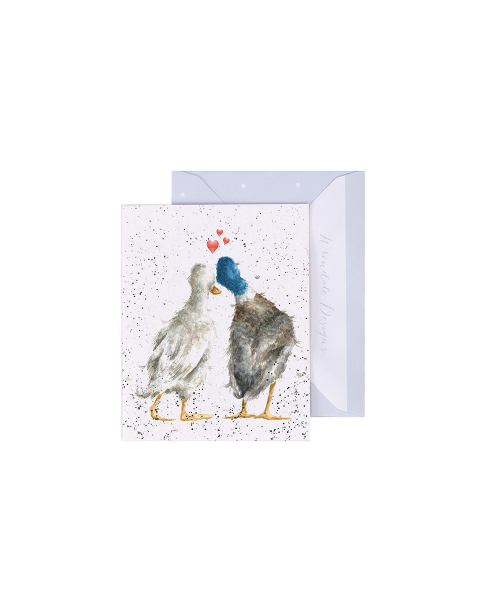 Wrendale Mini Wenskaart - Duck Love