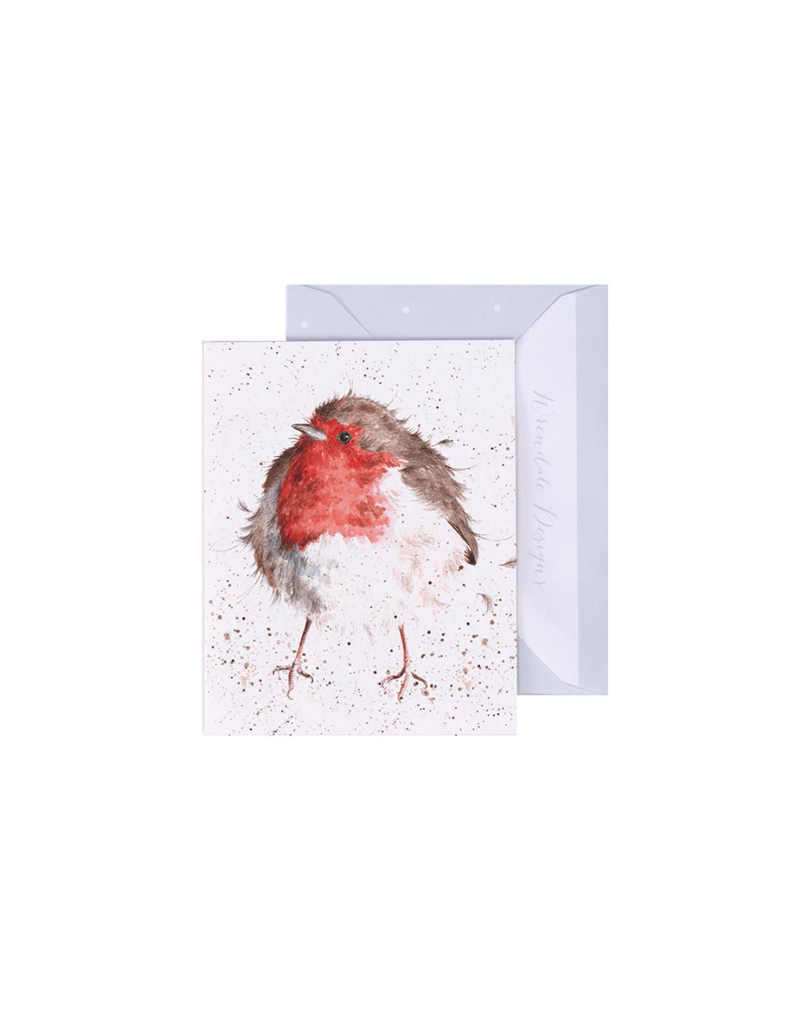 Wrendale Mini Wenskaart - Jolly Robin