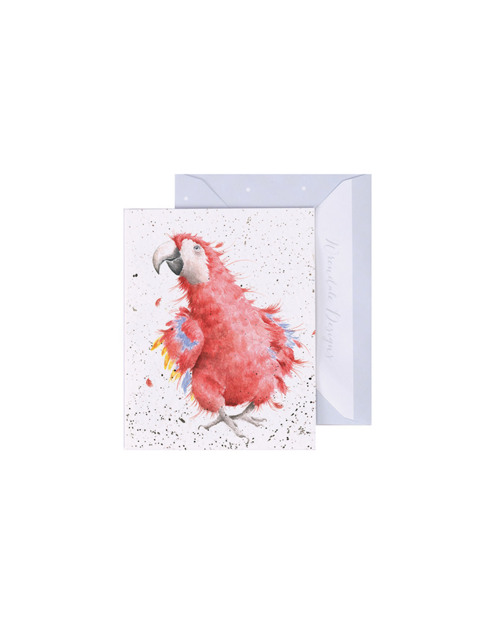 Wrendale Mini Wenskaart - Parrot on Parade