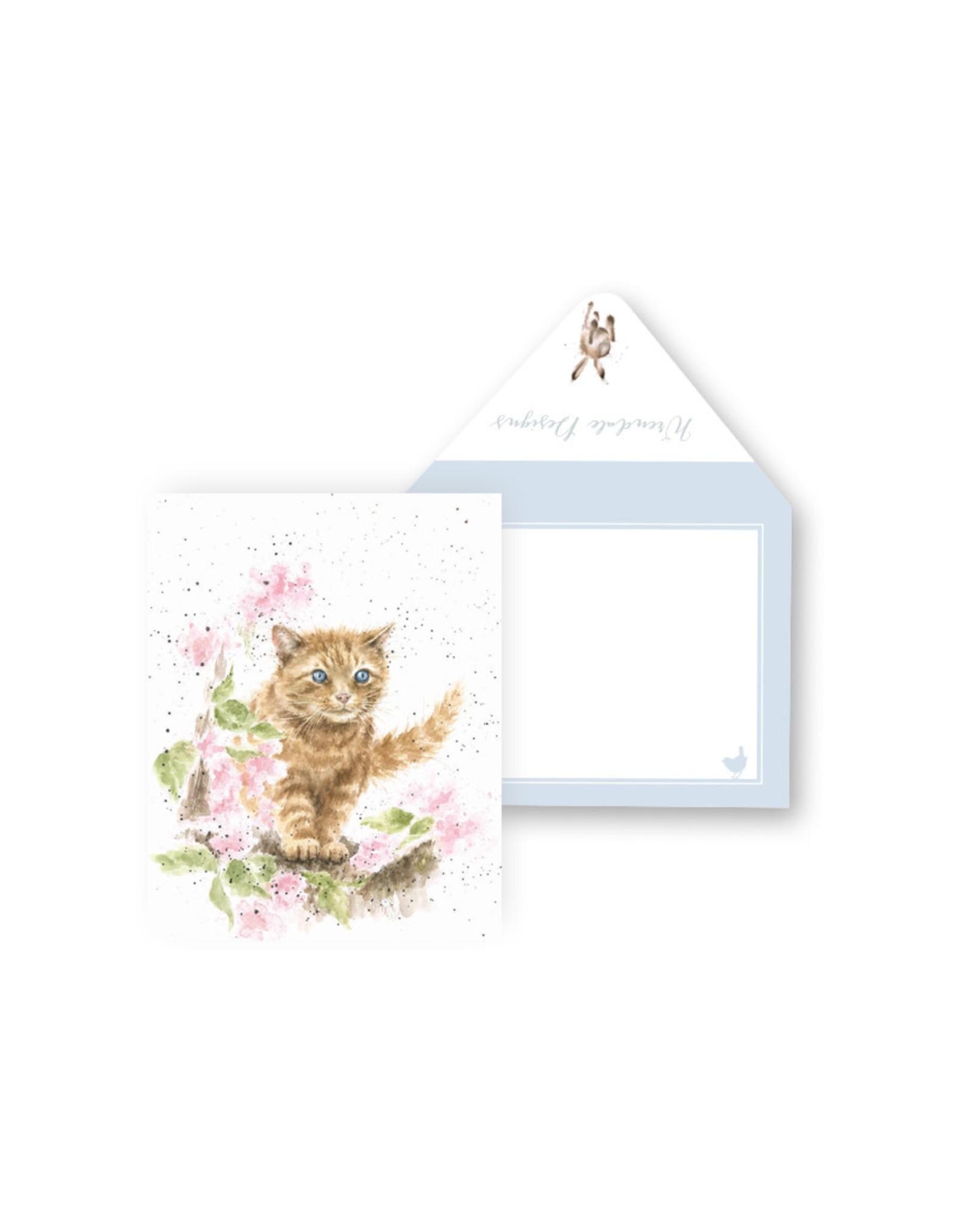 Wrendale Mini Wenskaart - The Marmelade Cat